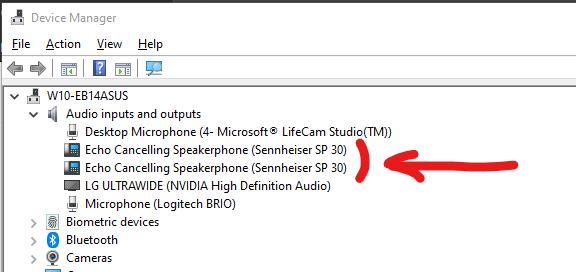 Audio Devices in Windows 10