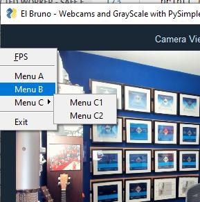 python pysimplegui context menu
