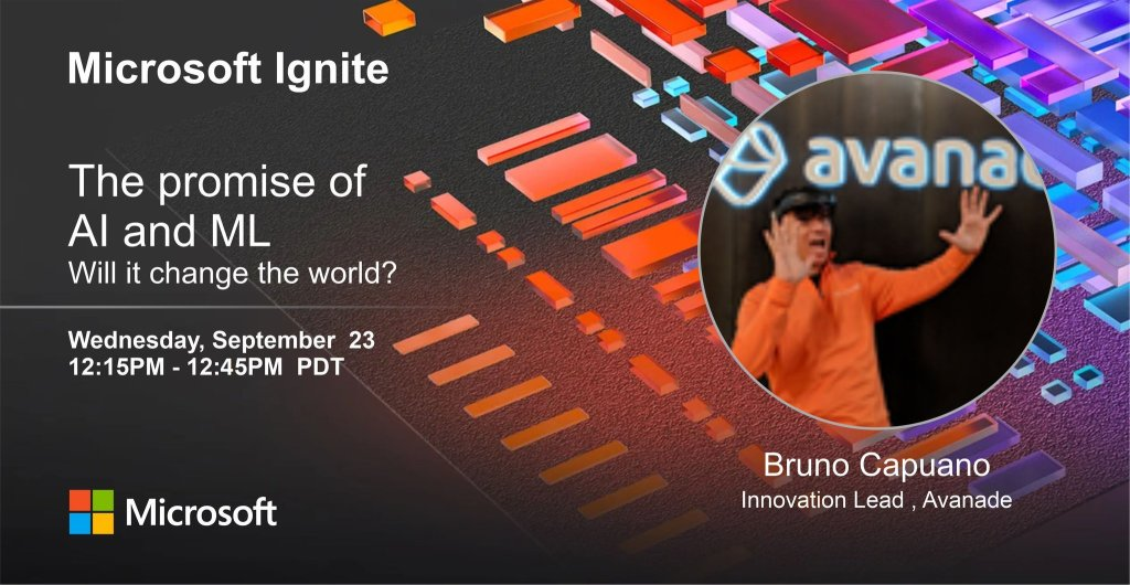 Bruno in the Ignite session promotional poster
