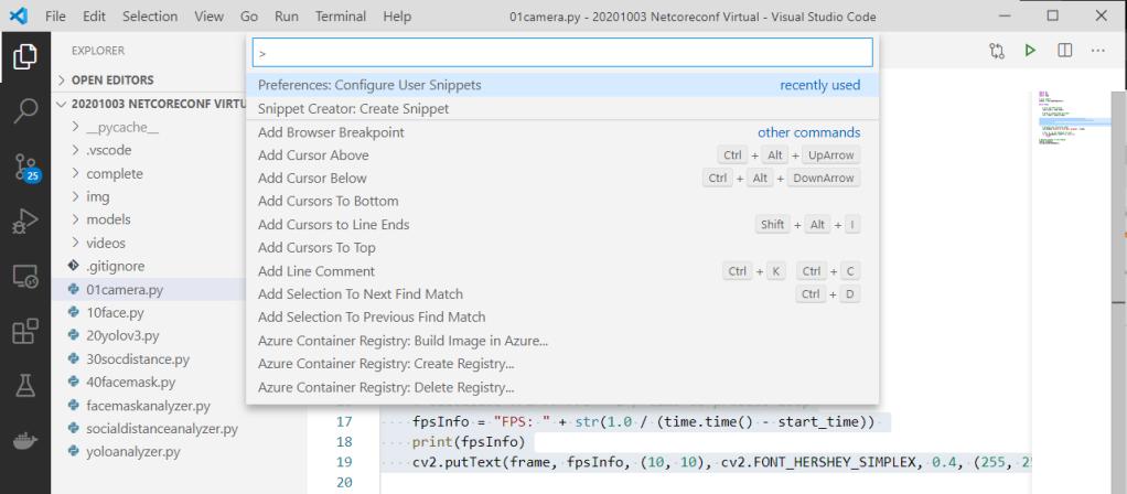 visual studio code snippet creator add new snippet