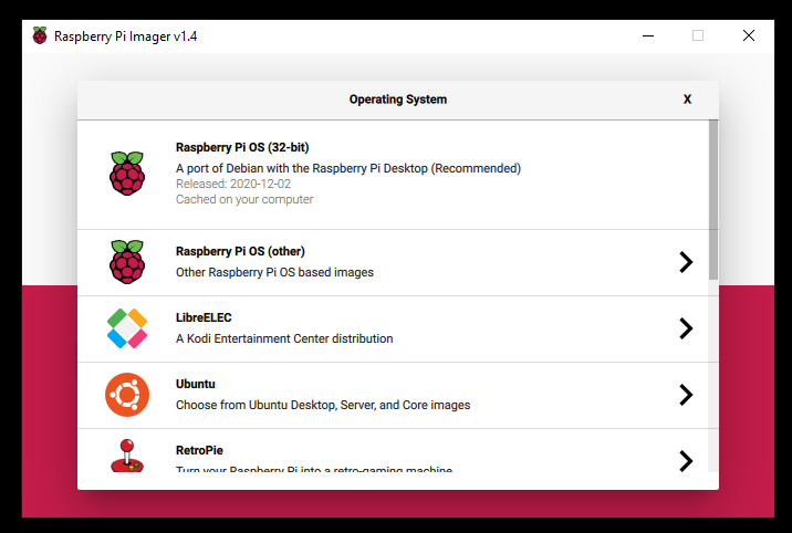 raspberry Pi Images install SO