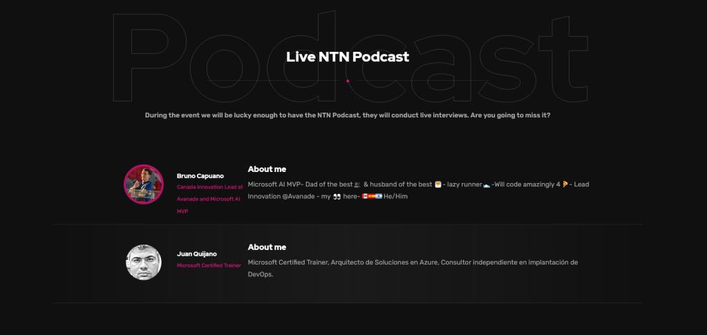 netcoreconf podcast en directo