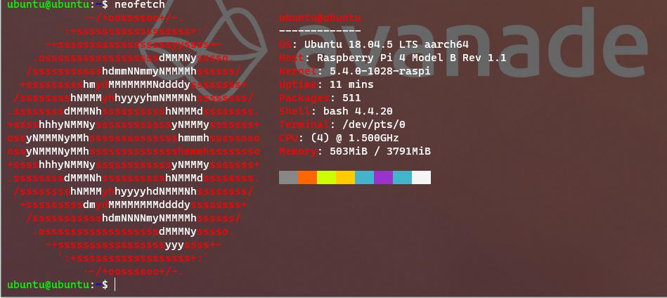 neofetch display ubuntu information