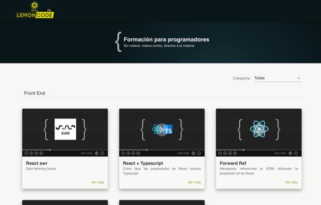 Lemoncode Tv página principal