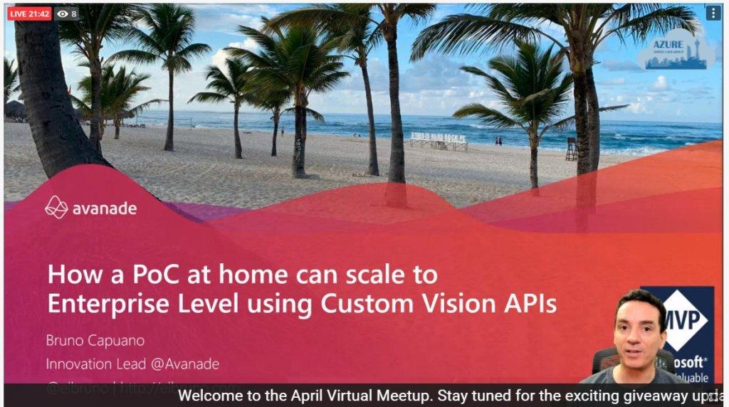elbruno custom vision event for australia
